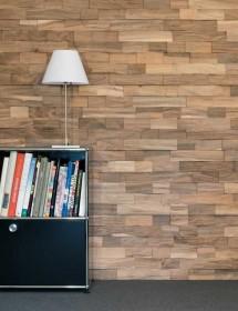 Wandverkleidung Holz - Spaltholz Nussbaum