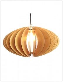 Holzleuchte Terra Echtholz Lampe Wodewa
