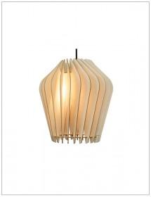 Holzlampe Solis Birkenholzlamellen Wodewa