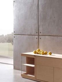 Wandverkleidung Steinwand Encofrado Grau