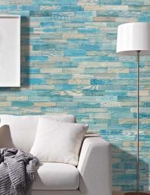 Holzwand Wodewa Vintage blau