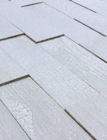 Holz-Riemchen Wodewa Vintage Weiß Alt