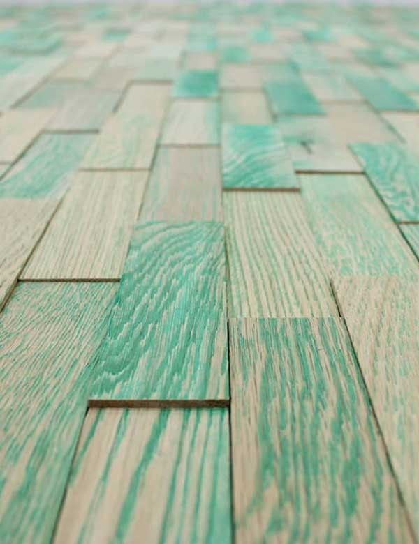 Holzverblender Wodewa Vintage grün