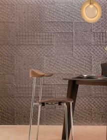 Betonwand Geometrico in Grau Panel Piedra