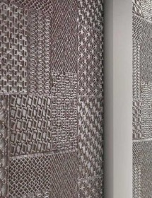 Betonwand Geometrico in Grau Panel Piedra  Wandverkleidung