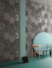 Wandverkleidung Hexagonal Betonoptik Panel Piedra