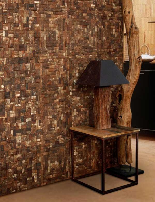 Wandverkleidung Mahagony wood
