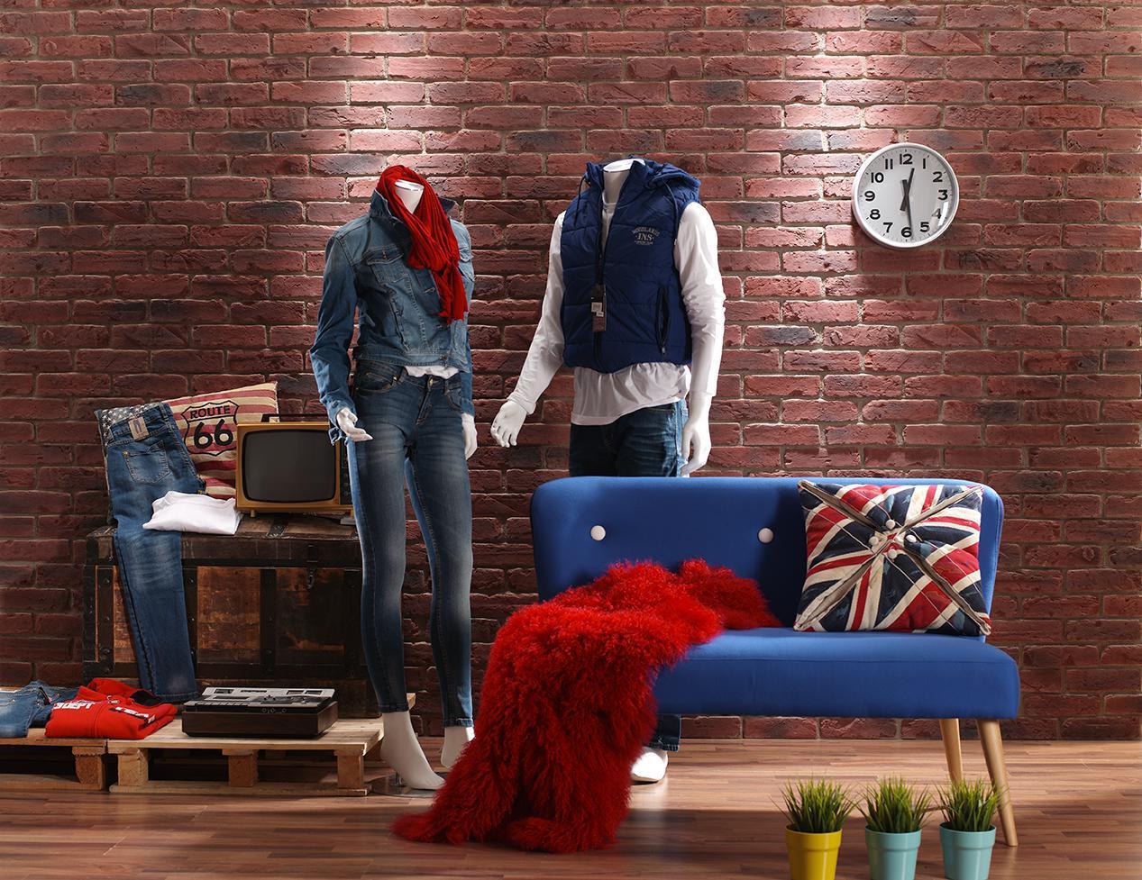 Wandverkleidung Klinkerwand Wohnzimmer