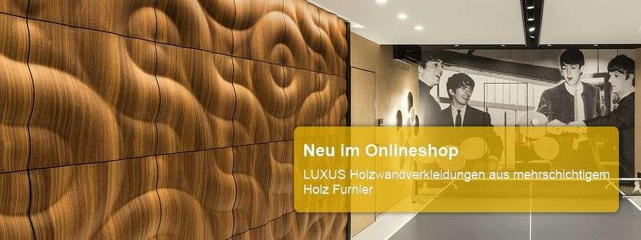 Luxus Wandverkleidung aus Holzfurnier