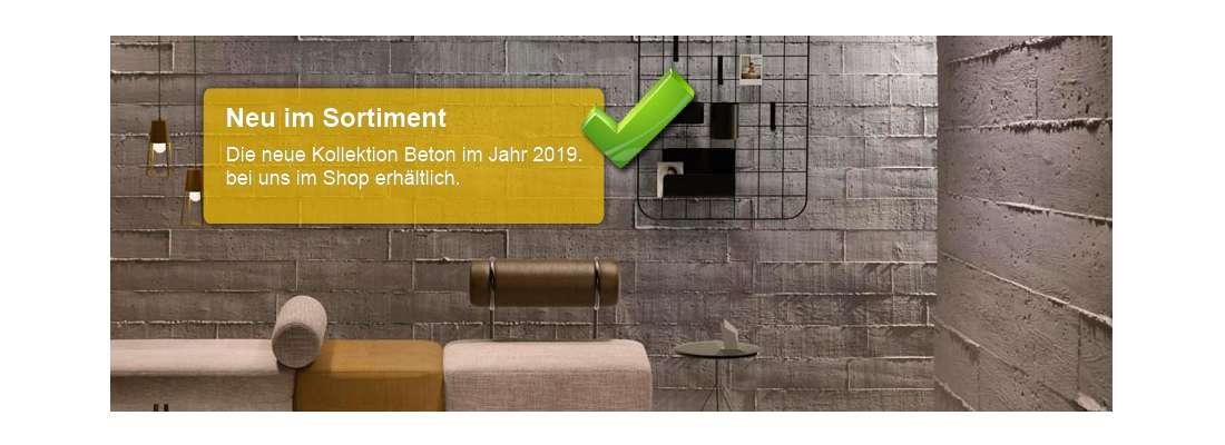Moderne Betonwände als Wandverkleidung im Onlineshop kaufen.