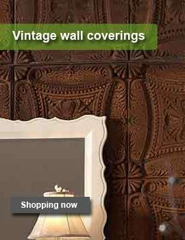 Vintage wallcovering for the interior.