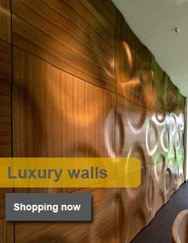 handmade multilayer wall coverings made of wood