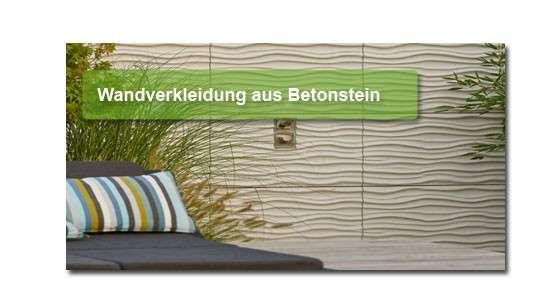 Wandverkleidung aus Beton in vielen Farben und Oberflächen